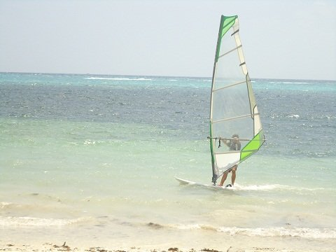 Windsurfer on Bulabog Beach