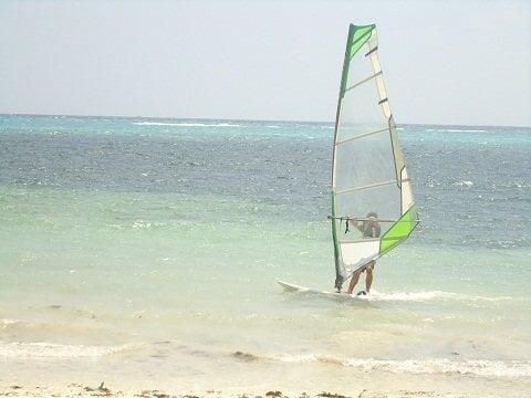 Windsurfer on Bulabog Beach