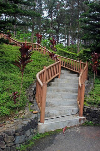 Camp John Hay Stairway in Baguio City Philippines