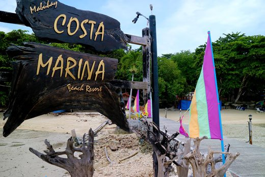 Costa Marina Beach Resort Welcome Sign