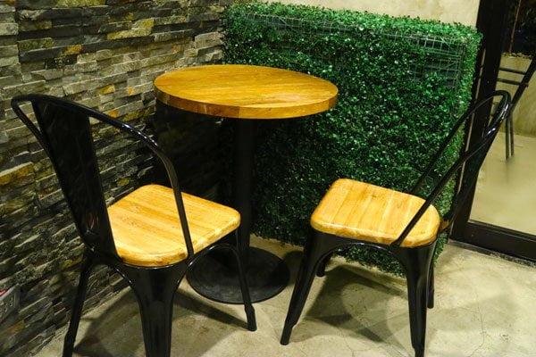 Green Coffee cozy corner