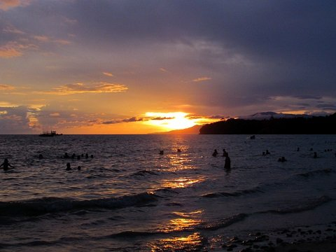 Sunsets at Gumasa Beach are gorgeous.