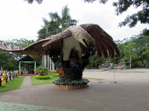 Philippine Eagle Sculpture at Peoples Park