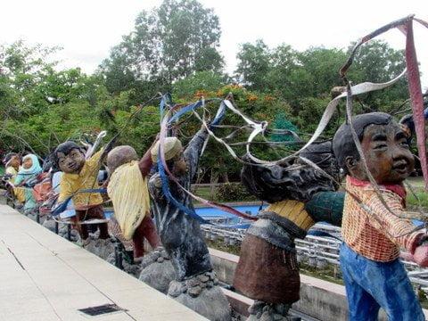 People's Park Tribal Sculptures