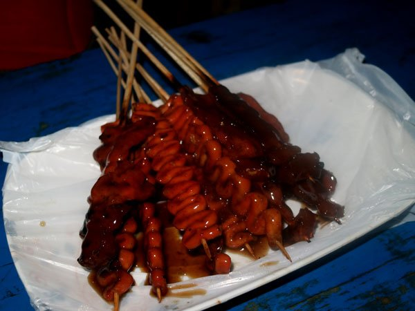 Isaw Barbecue at the Roxas Night Market