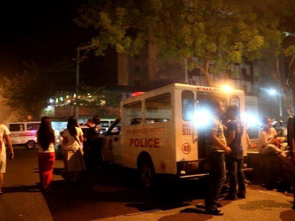 Police at the Roxas Night Market