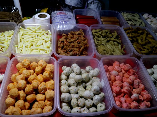 Fish, Squid, Shrimp Balls at the Roxas Night Market