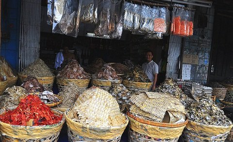 Dried Fish on Display in Taboan