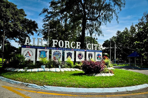 Entrance to Air Force City in Angeles City, Philippines.