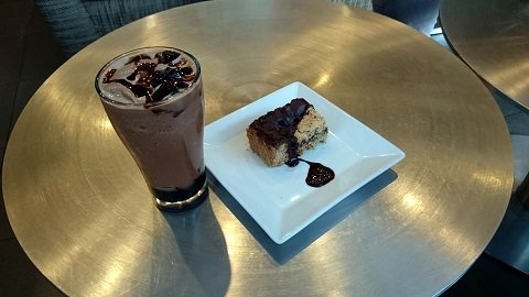 BluGre Coffee's delicious coffee jelly and chocolate revel bar.