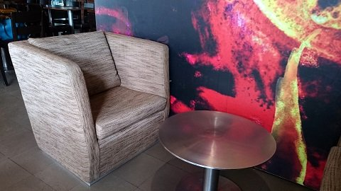 Comfortable seating in all BluGre Coffee locations is a guarantee.