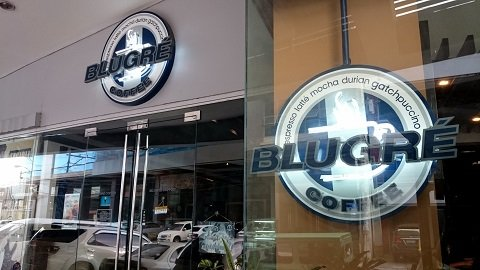 BluGre Coffee's signage