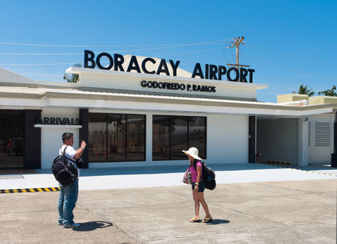Boracay Airport in Caticlan, Philippines