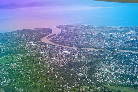 Aerial View of Cagayan de Oro City