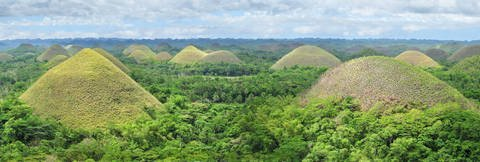 The Chocolate Hills of Bohol Philippines.