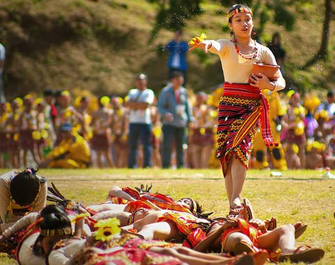 Traditional dance performed at the Panagbenga Festival in Baguio City.