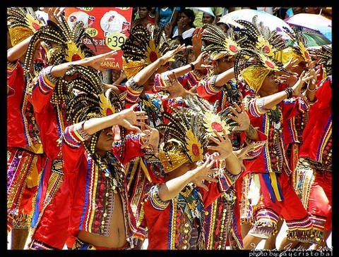 Dancers at the Diyandi Festival in Iligan City, Philippines.