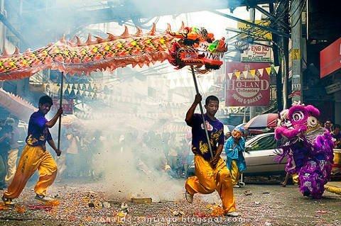 Festival in Chinatown, Manila, Philippines.