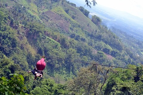 I'd ride the zipline over and over again if only for the view.