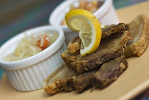Fried pork bagnet is a tasty Filipino dish.