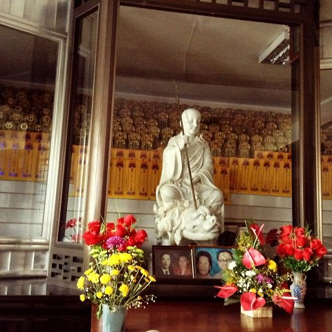 The Buddhist equivalent of St. Peter guarding over the dead.