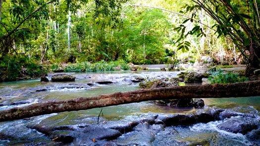 Hagimit Falls stream