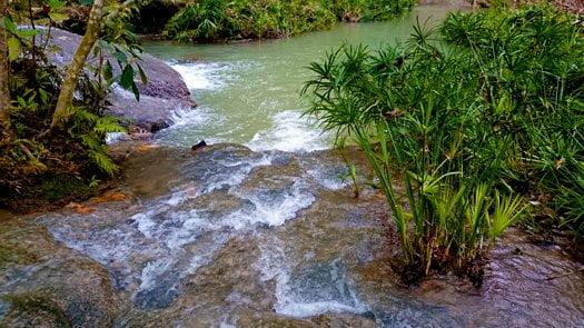 Hagimit Falls rushing water