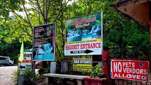 Hagimit Falls Entrance
