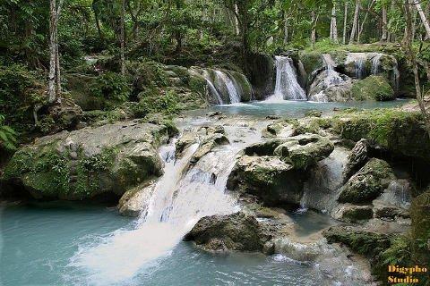 Hagimit Falls in Island Garden City of Samal, Davao del Norte.