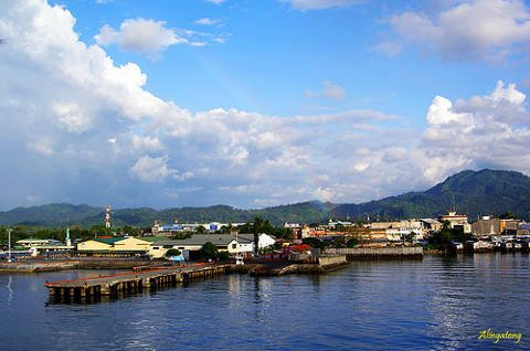 View of Iligan City, Philippines arriving at port.