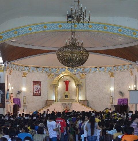 Inside the Sta. Teresa de Avila Parish Church in Talisay Cebu
