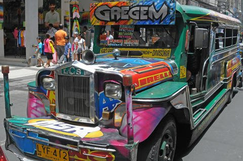 Colorful Jeepney in Metro Manila Philippines