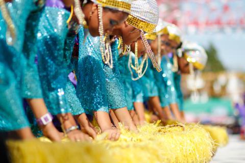 Kadayawan Festival dancers in traditional dress.