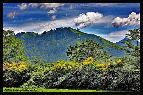 Spectacular view of Mt. Kitanglad from Malaybalay City in Bukidnon province, Philippines.