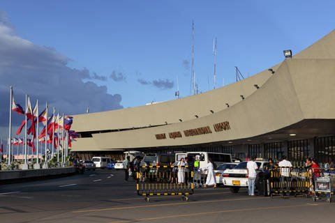 Front of Ninoy Aquino International Airport (NAIA) in Metro Manila