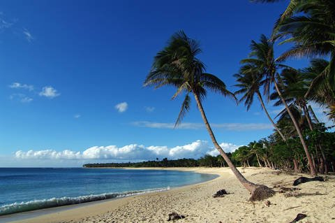 The white sand beach of the Pagudpud beach in the province of Ilocos Norte.