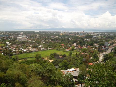 Panoramic view of downtown Cagayan de Oro City, Philippines.