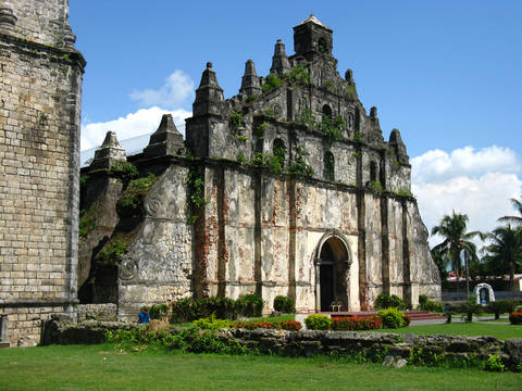 The Paoay Church in Ilocos Norte Philippines.