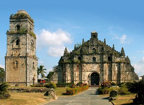 The beautiful World Heritage Site Paoay Church in Ilocos Norte