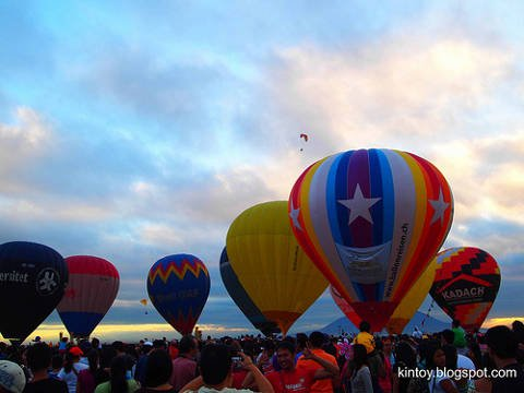 Philippine International Hot Air Balloon Festival in Angeles City, Philippines.