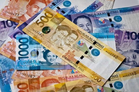 Philippine peso banknotes.