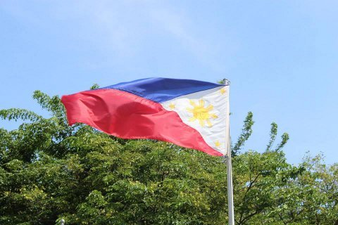 Philippines Flag Blowing in the Wind