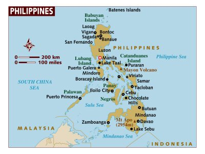 Map of the Philippine Islands.