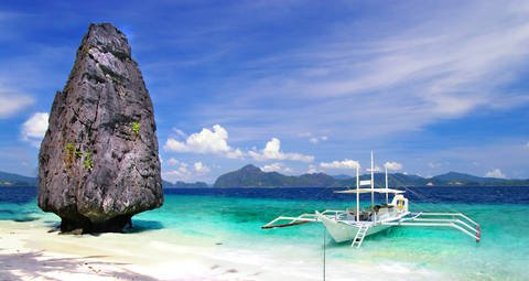 El Nido on Palawan Island in the Philippines, the Pearl of the Orient.
