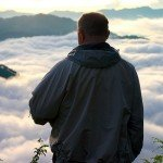 Foreign man enjoying the view in Sagada, Mountain Province.