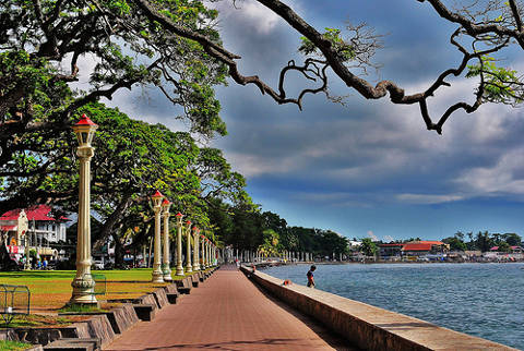 Rizal Boulevard in Dumaguete Philippines.