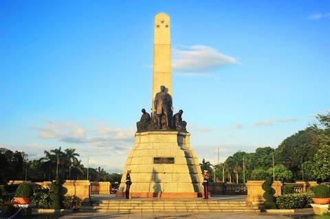 Rizal monument located in Rizal park in Manila commemorating Filipino nationalist José Rizal.