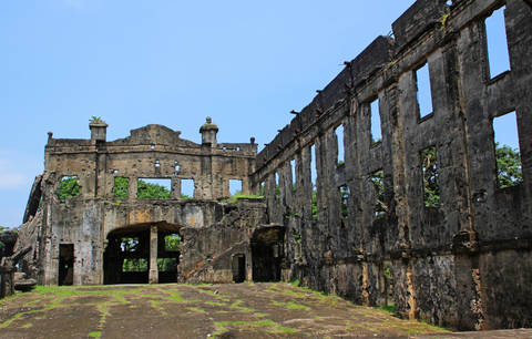 Ruins of American military camp in Bataan Philippines.