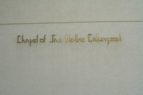 Chapel of Pedro Calungsod Signage