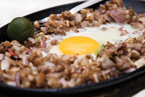 Sisig is a delicious manyaman food in the Pampangas region of the Philippines.